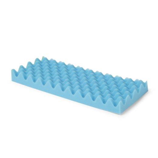 Convoluted armbed foam positioneren